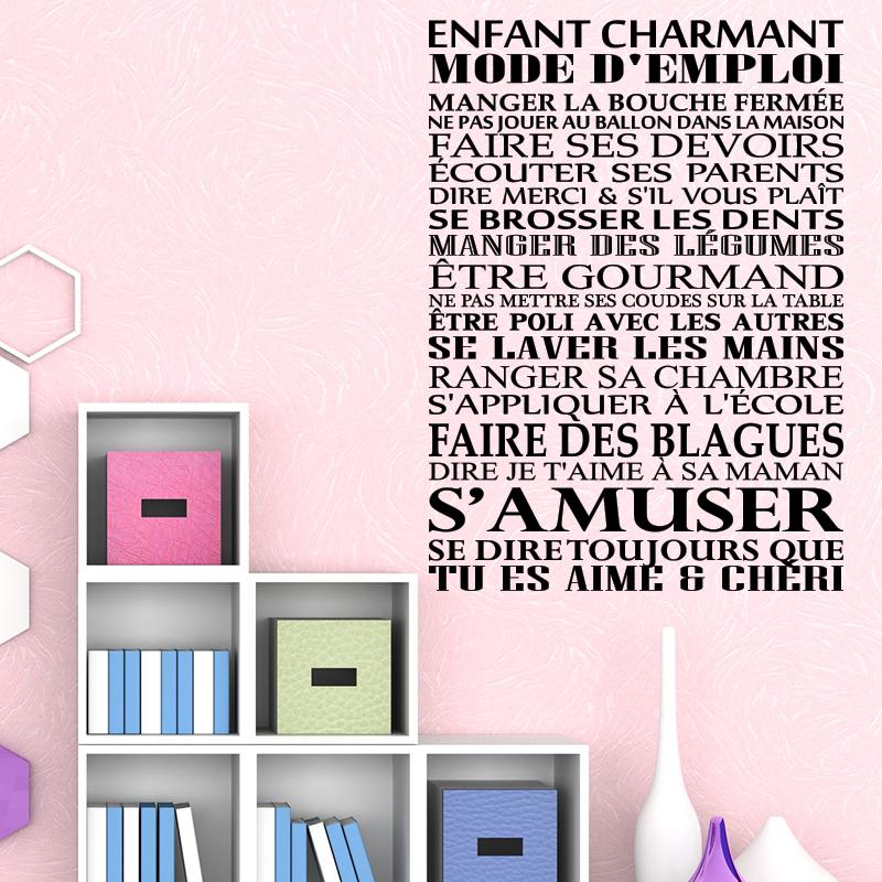 Sticker enfant charmant mode d 39 emploi stickers citations - Lit parapluie trottine 55 mode d emploi ...