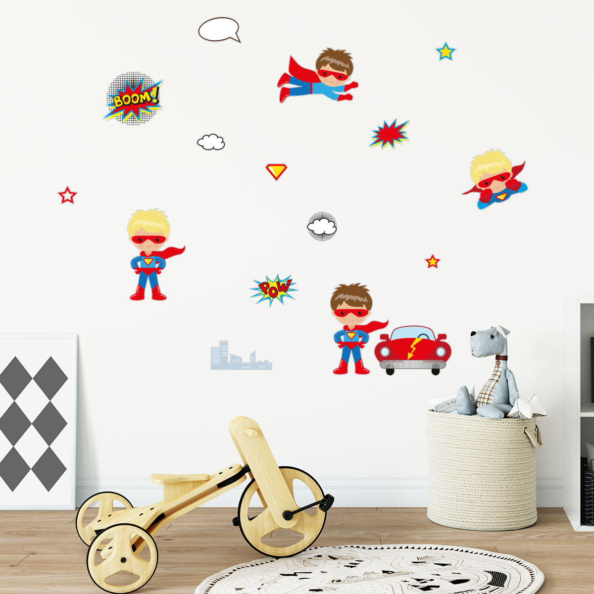 sticker enfants super h ros stickers chambre enfants filles ambiance sticker. Black Bedroom Furniture Sets. Home Design Ideas