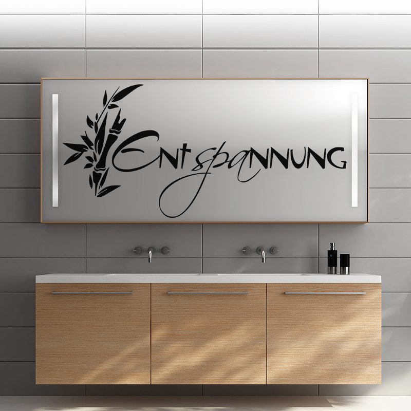 sticker entspannung zen stickers citations allemand ambiance sticker. Black Bedroom Furniture Sets. Home Design Ideas