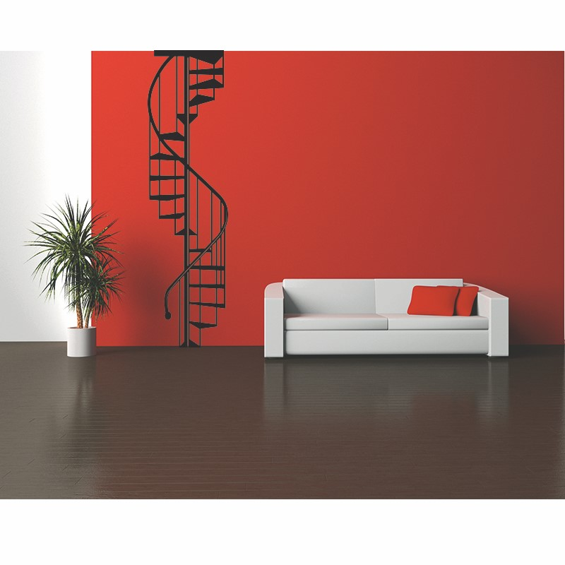 stickers muraux design sticker mural escalier ambiance. Black Bedroom Furniture Sets. Home Design Ideas