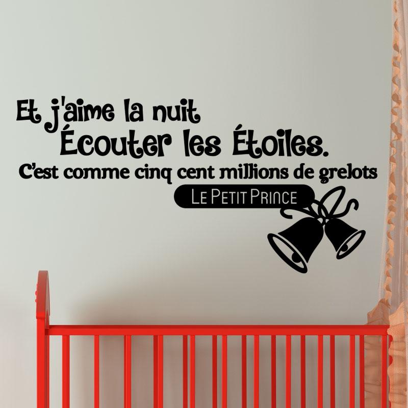 Sticker Et J'Aime La Nuit – Stickers Citations Français - Ambiance