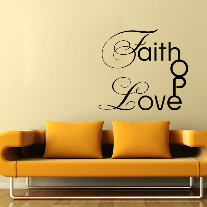 Sticker faith hope love stickers chambre amour for Stickers chambre love