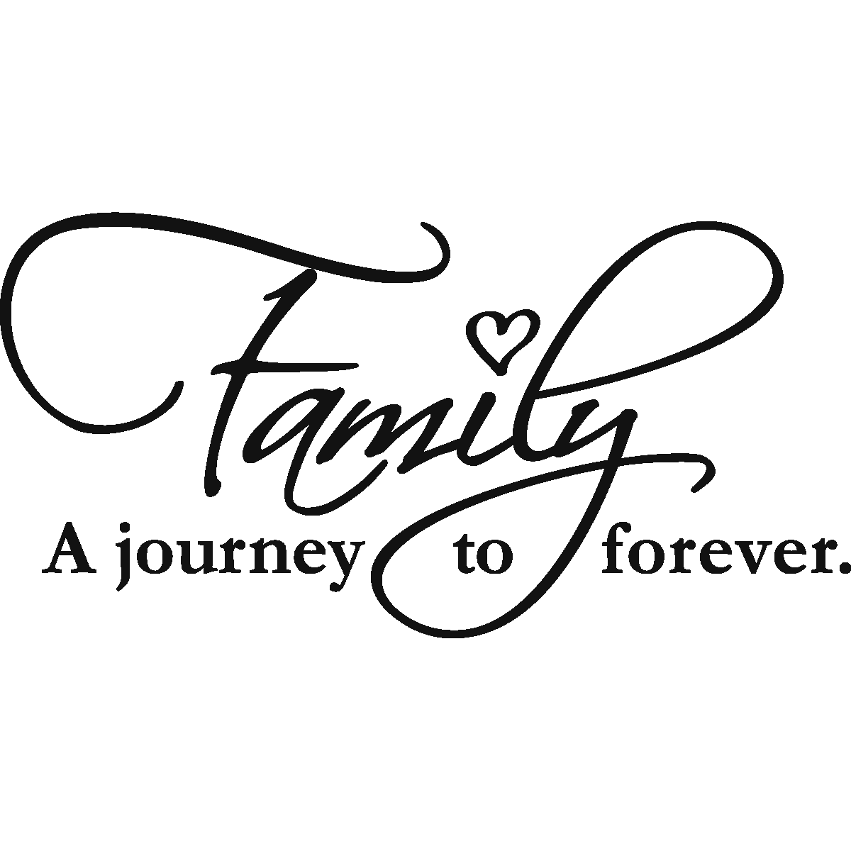 stickers muraux citations sticker family forever ambiance. Black Bedroom Furniture Sets. Home Design Ideas