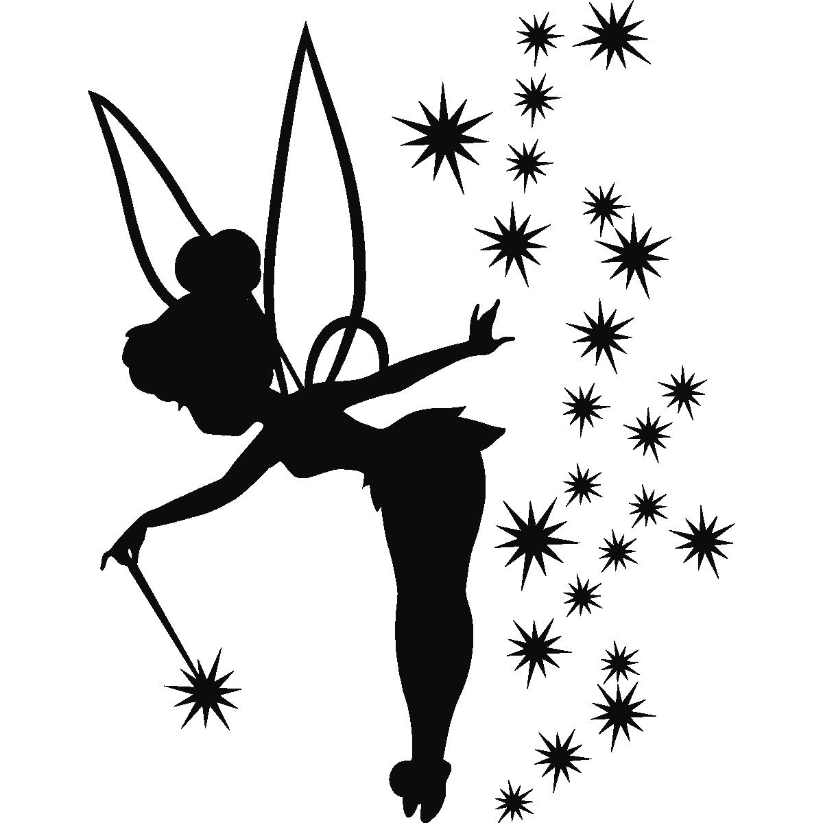 Stickers muraux pour les enfants - Sticker Tinkerbell 2 ...