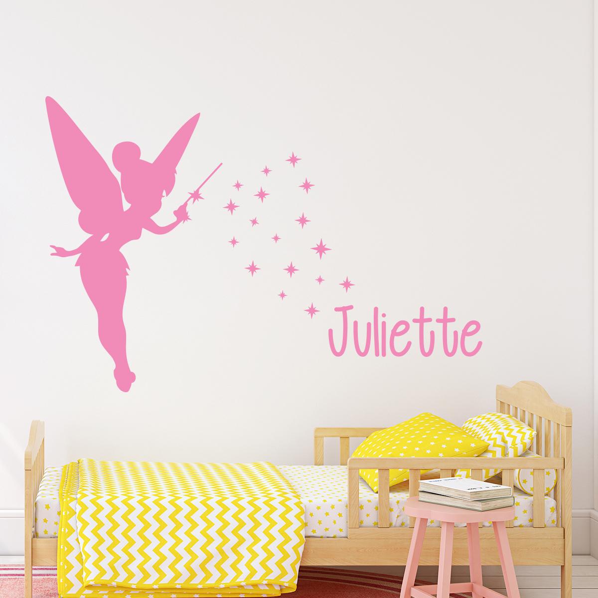 Stickers muraux pour chambre sticker mural f e avec for Autocollant mural