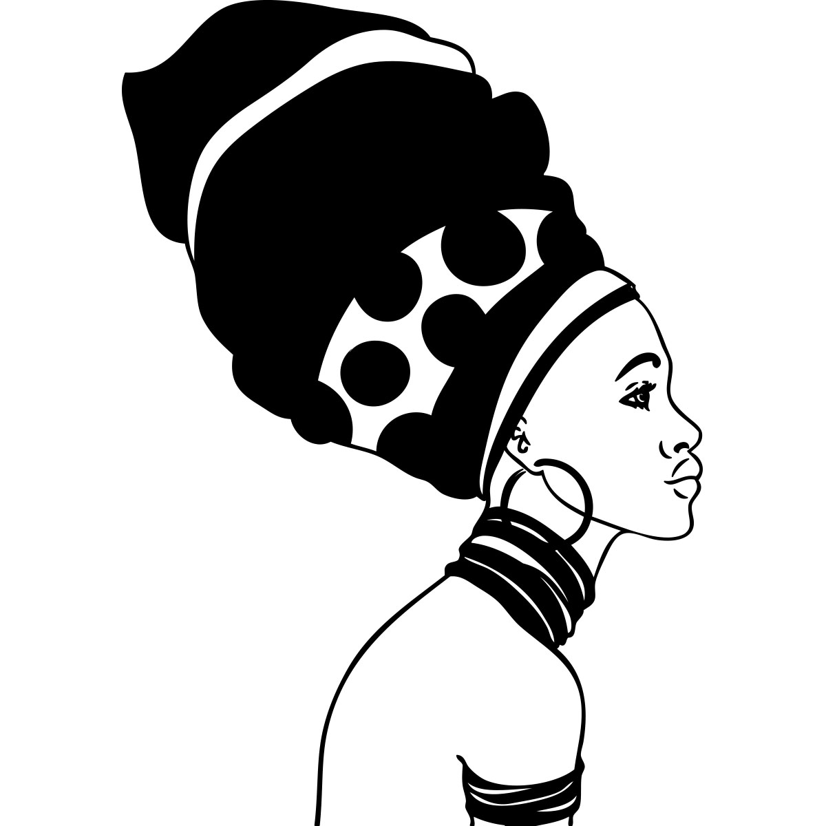 Sticker femme africaine de profil stickers art et design - Africaine dessin ...