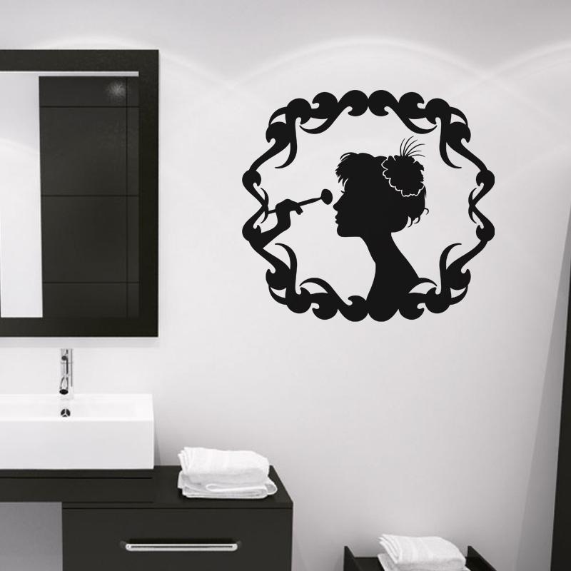 stickers muraux pour salle de bain sticker mural femme encadr e ambiance. Black Bedroom Furniture Sets. Home Design Ideas