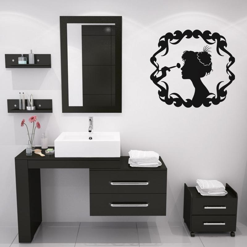 Stickers muraux pour salle de bain sticker mural femme - Stickers muraux pour salle de bain ...