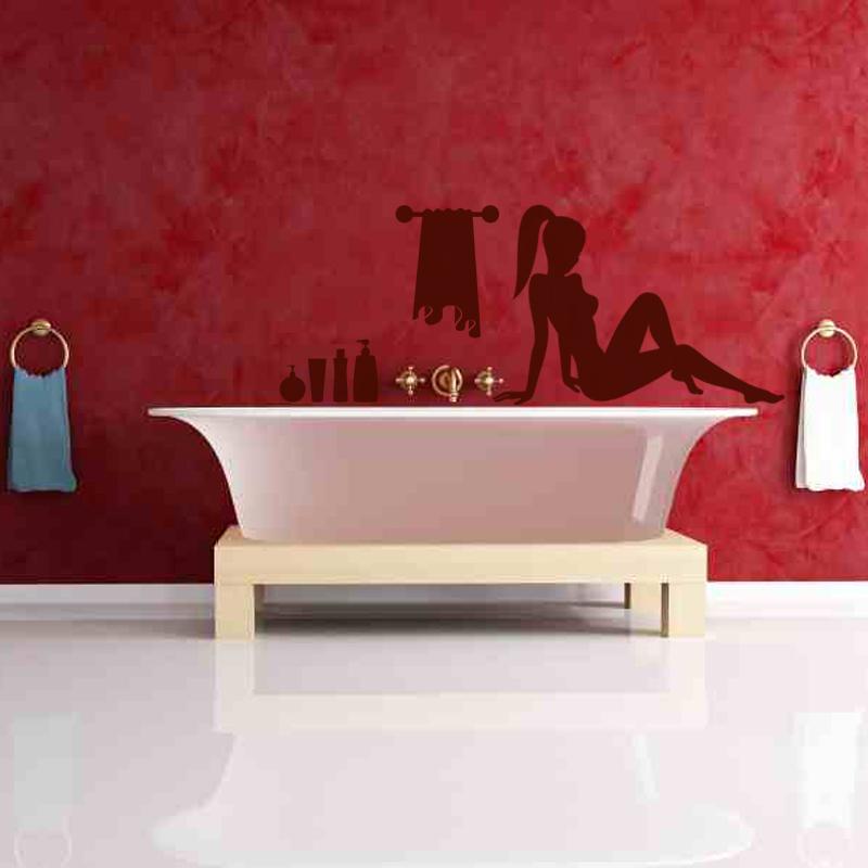 Stickers muraux pour salle de bain sticker mural femme - Revetements muraux pour salle de bain ...