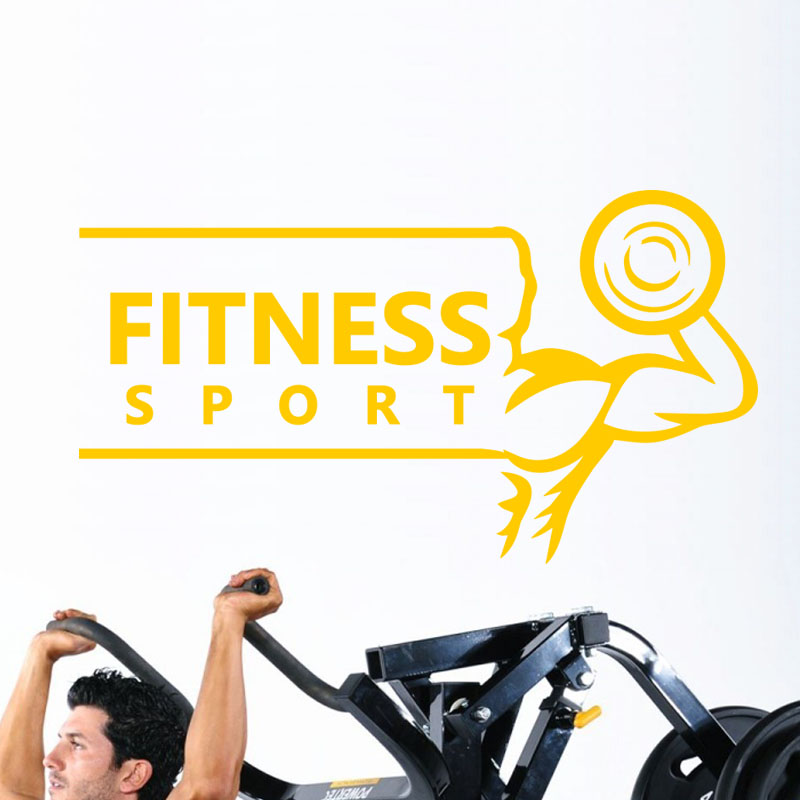 sticker fitness sport stickers sports et football autres sports ambiance sticker. Black Bedroom Furniture Sets. Home Design Ideas