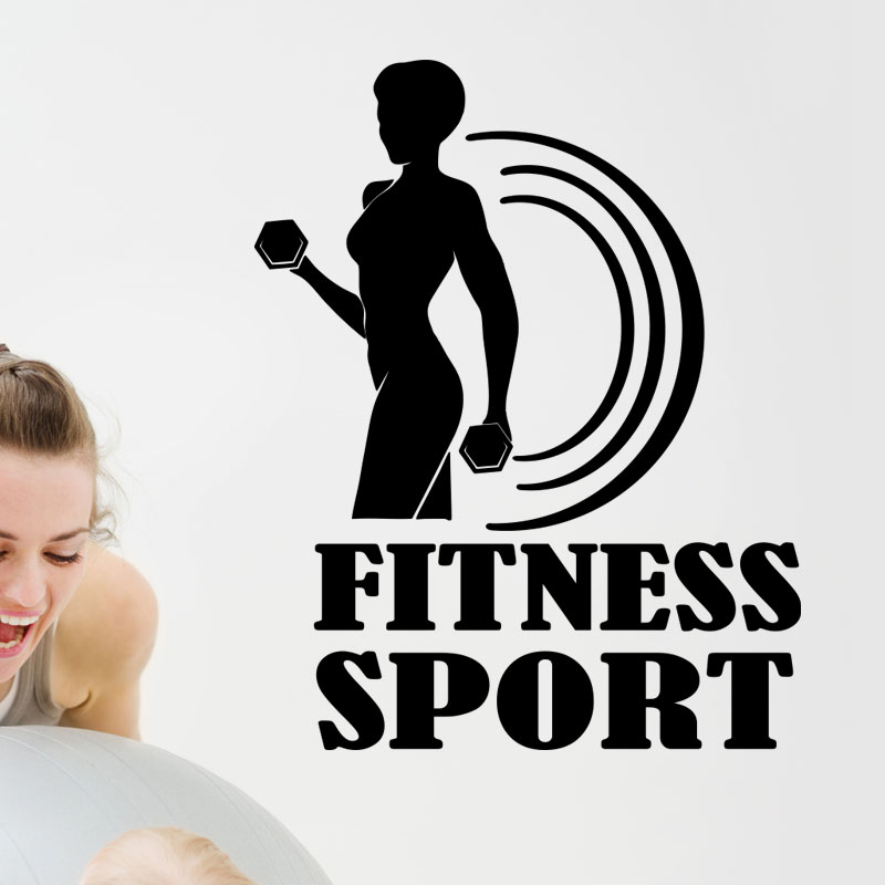 sticker fitness sport ii stickers sports et football autres sports ambiance sticker. Black Bedroom Furniture Sets. Home Design Ideas