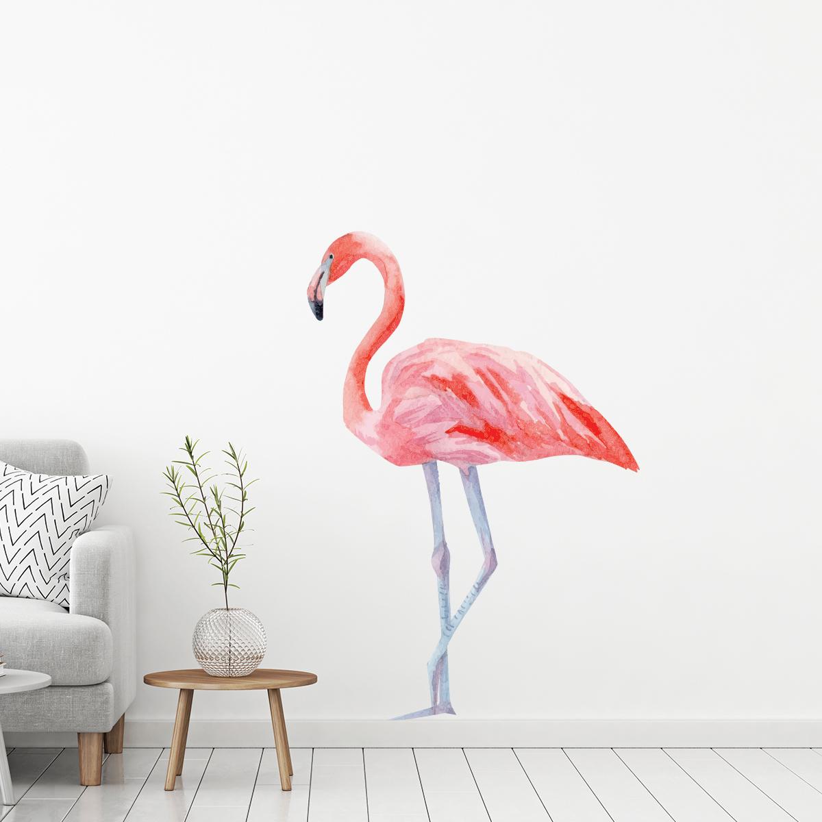 Salle De Bain Gris Beige Marron ~ sticker flamant rose stickers animaux oiseaux ambiance sticker