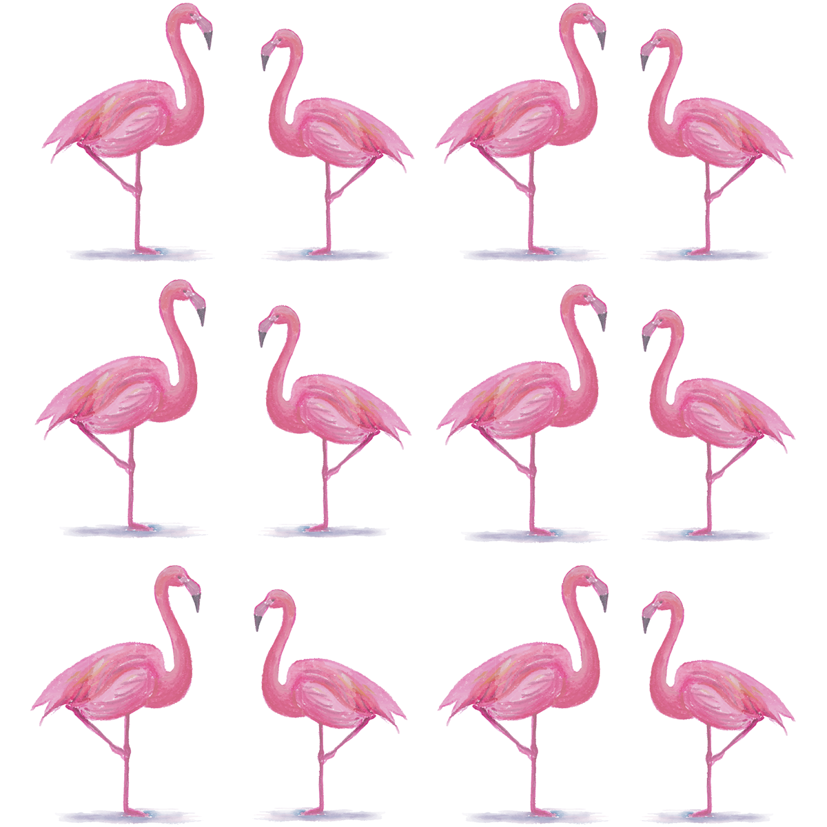 Sticker flamants roses prestigieux stickers animaux - Stickers flamant rose ...