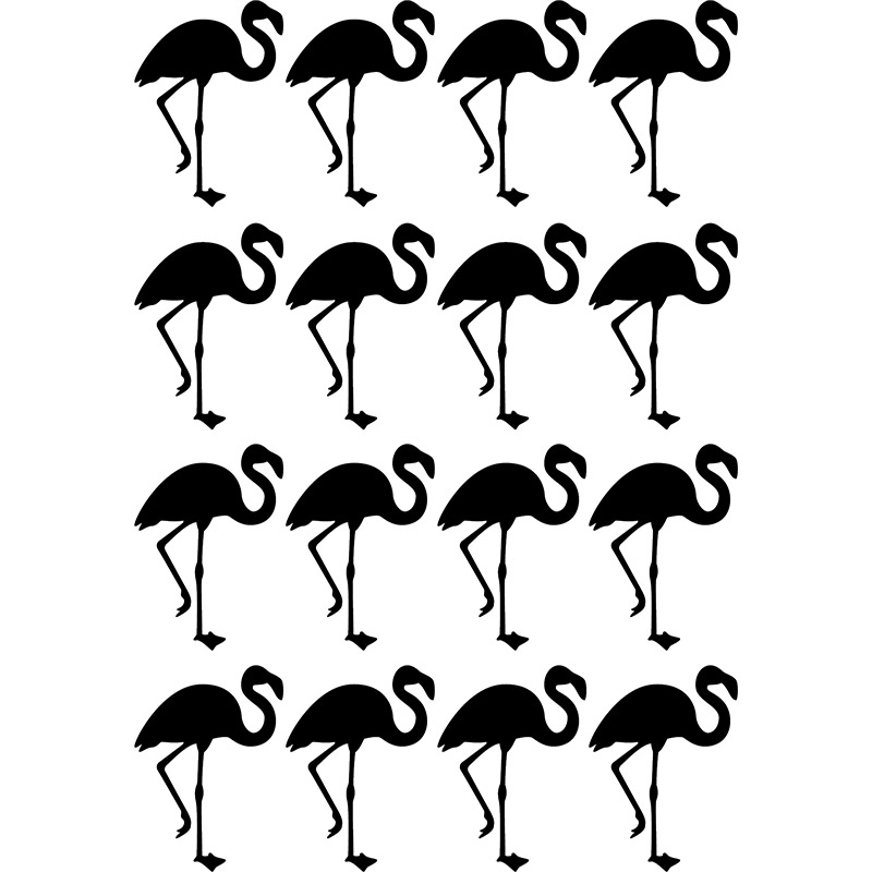 sticker flamants roses tapisserie stickers animaux. Black Bedroom Furniture Sets. Home Design Ideas