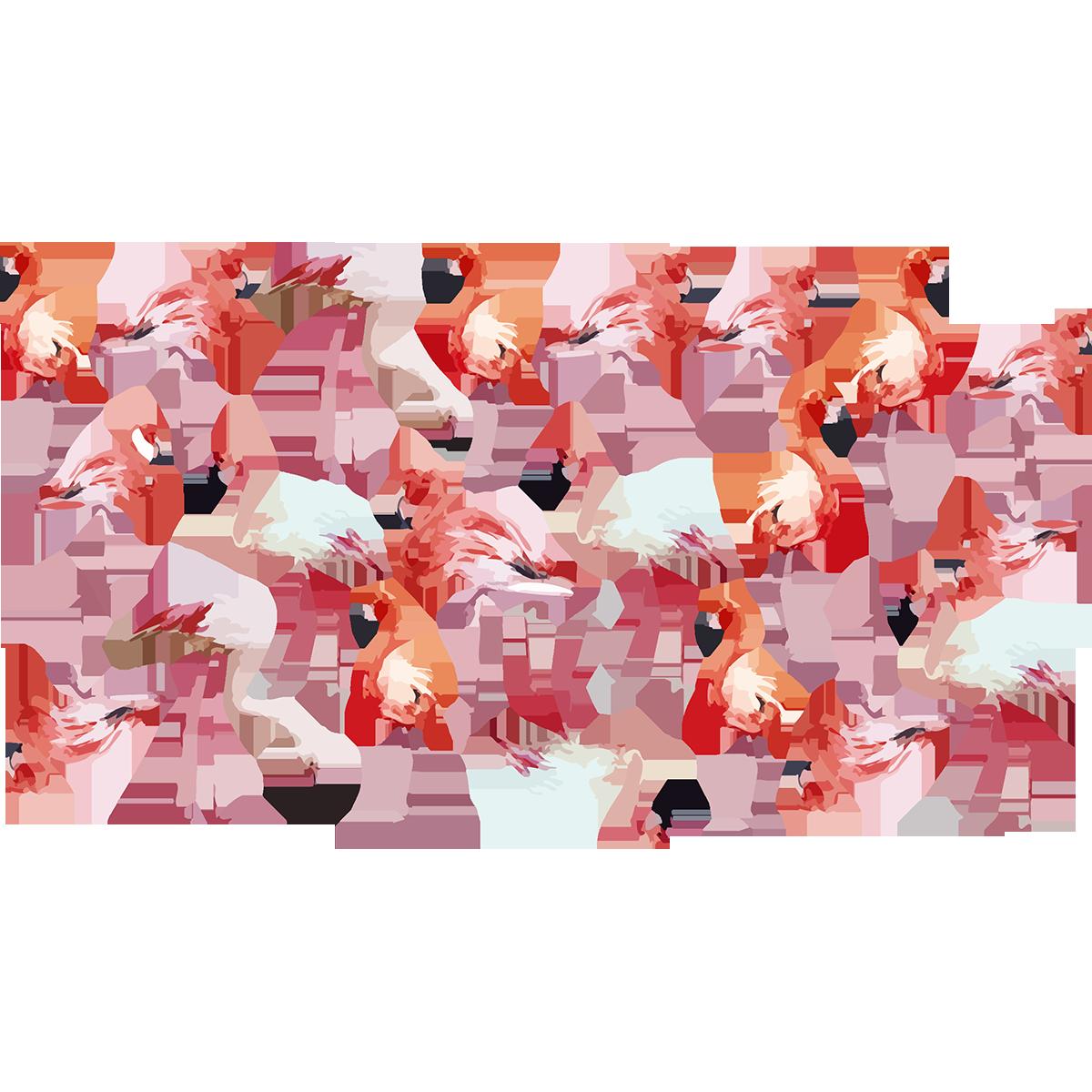 Accessoire Salle De Bain Flamant Rose ~ sticker flamants roses vintage stickers animaux oiseaux ambiance