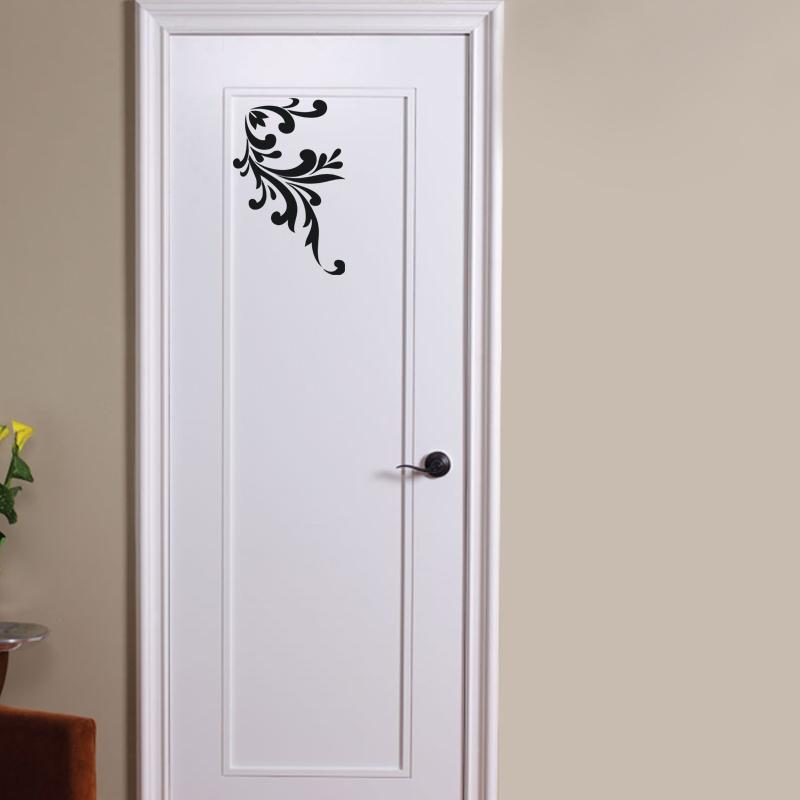 Sticker muraux pour portes sticker fleur baroque - Stickers baroque pour meuble ...