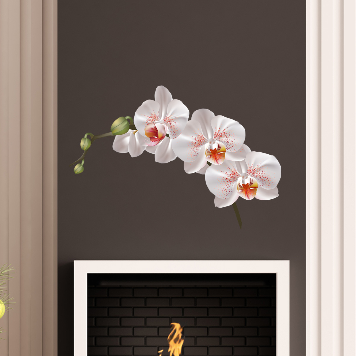 stickers muraux fleurs sticker fleur d 39 orchid e ambiance. Black Bedroom Furniture Sets. Home Design Ideas