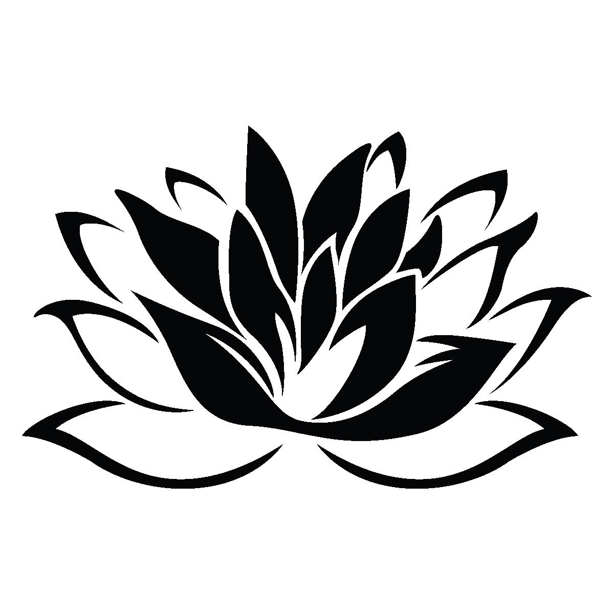 Stickers muraux fleurs sticker fleur de lotus ambiance - Dessin de fleur facile ...