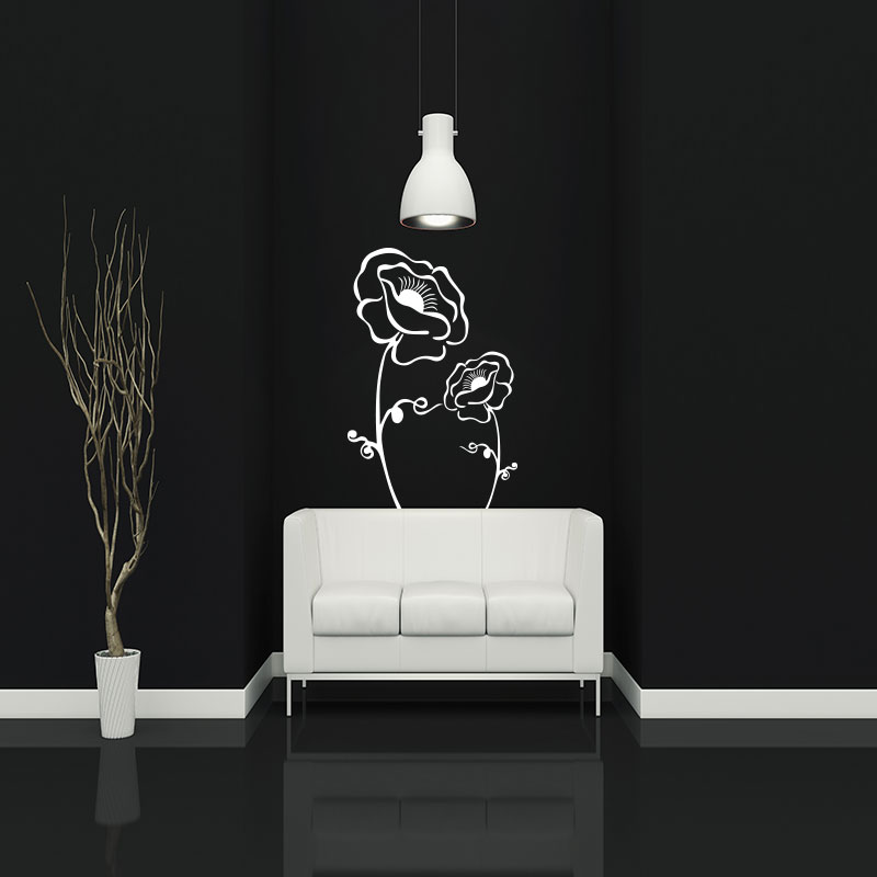 sticker fleur du bonheur stickers nature fleurs ambiance sticker. Black Bedroom Furniture Sets. Home Design Ideas