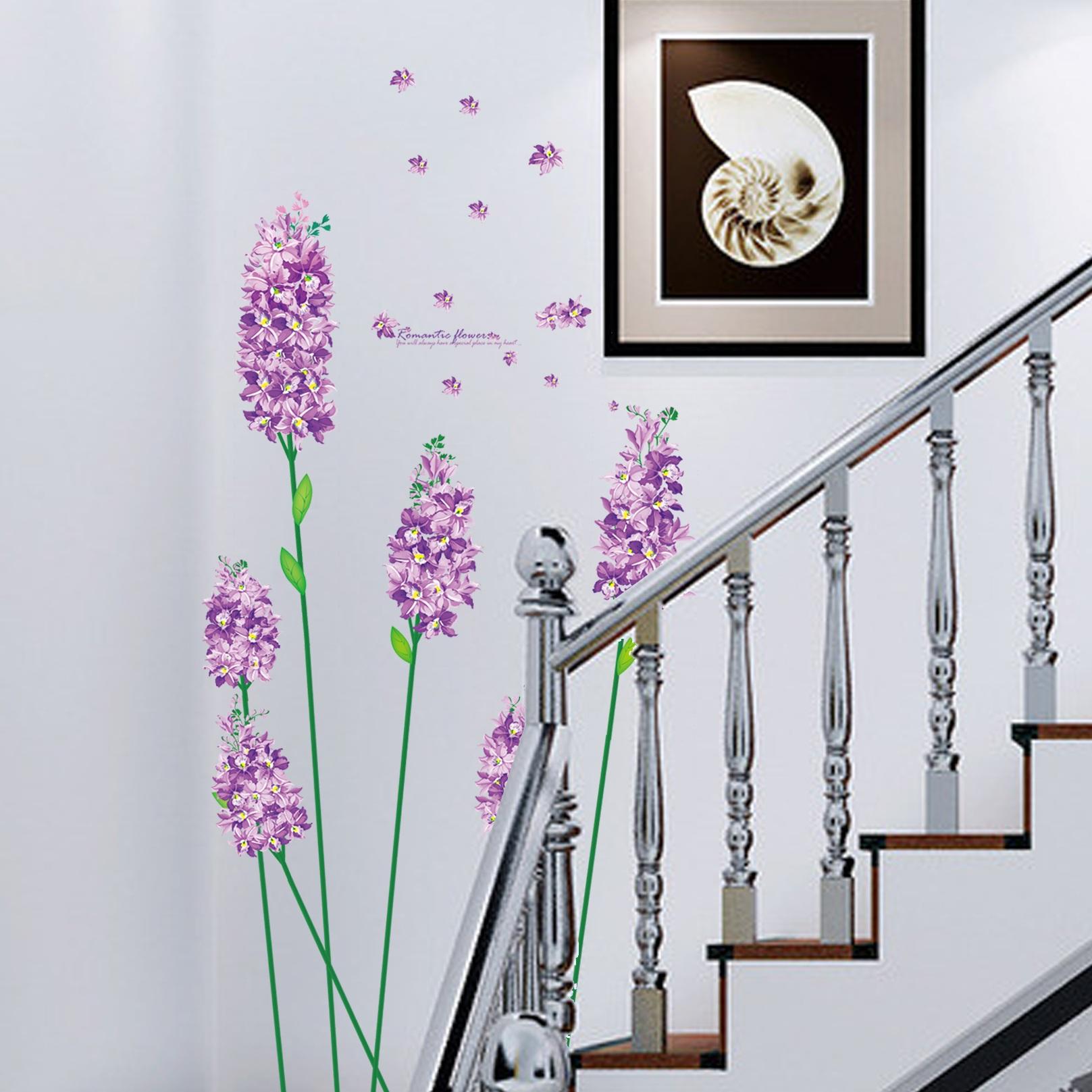 sticker fleur iris violettes. Black Bedroom Furniture Sets. Home Design Ideas