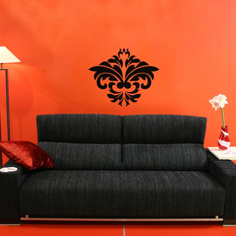 stickers muraux design sticker mural fleur moderne ambiance. Black Bedroom Furniture Sets. Home Design Ideas
