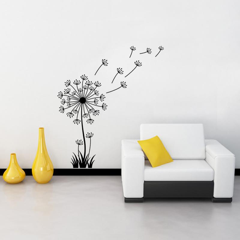 sticker fleur pissenlit stickers nature fleurs ambiance sticker. Black Bedroom Furniture Sets. Home Design Ideas