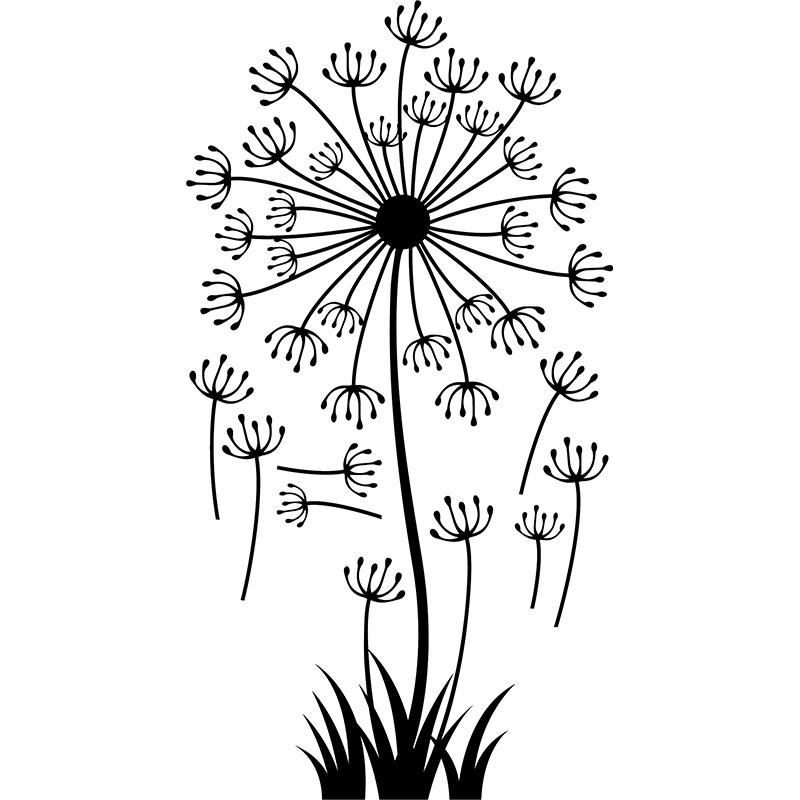 Sticker fleur pissenlit stickers nature fleurs - Dessin fleur pissenlit ...