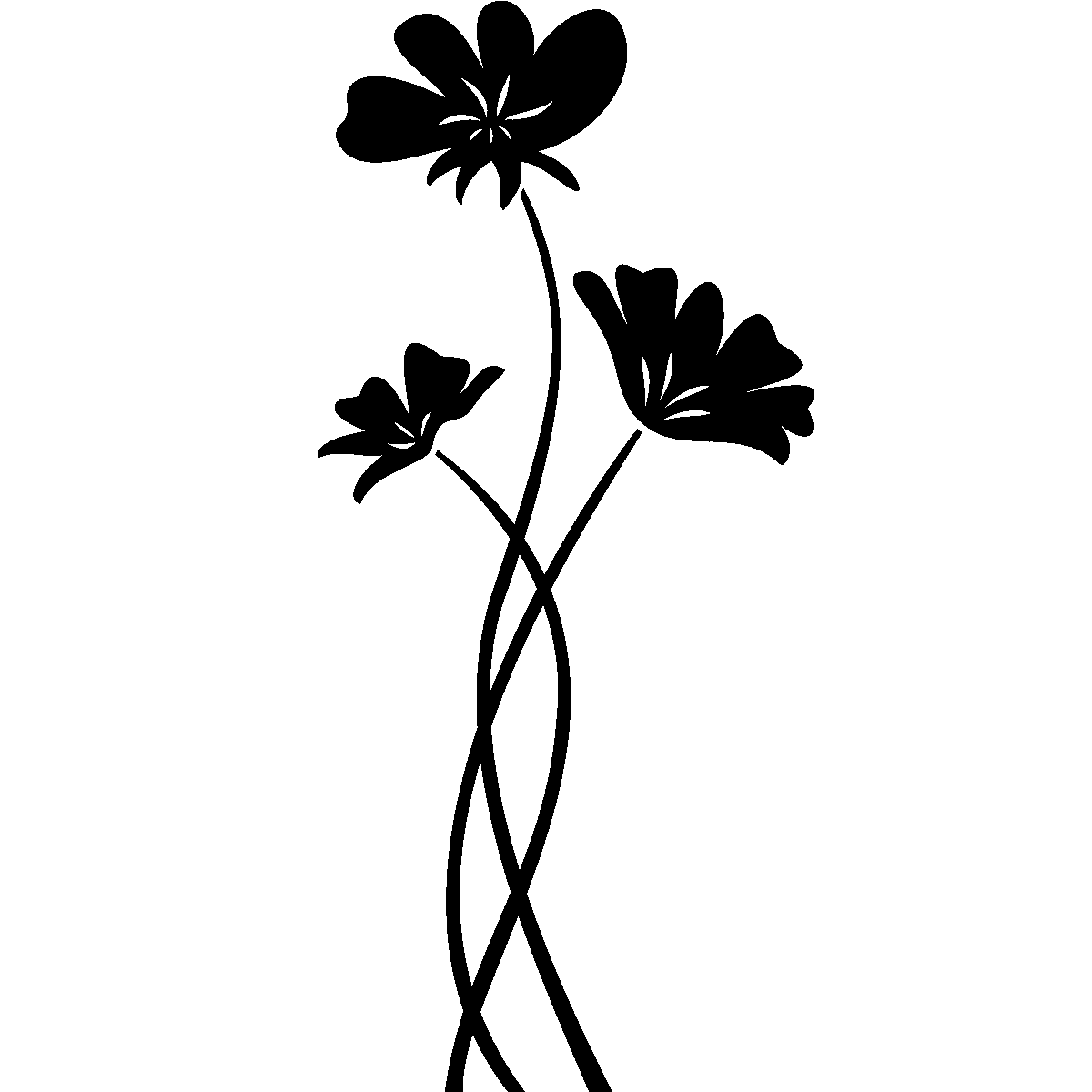stickers muraux fleurs sticker fleurs aux longues tiges ambiance. Black Bedroom Furniture Sets. Home Design Ideas