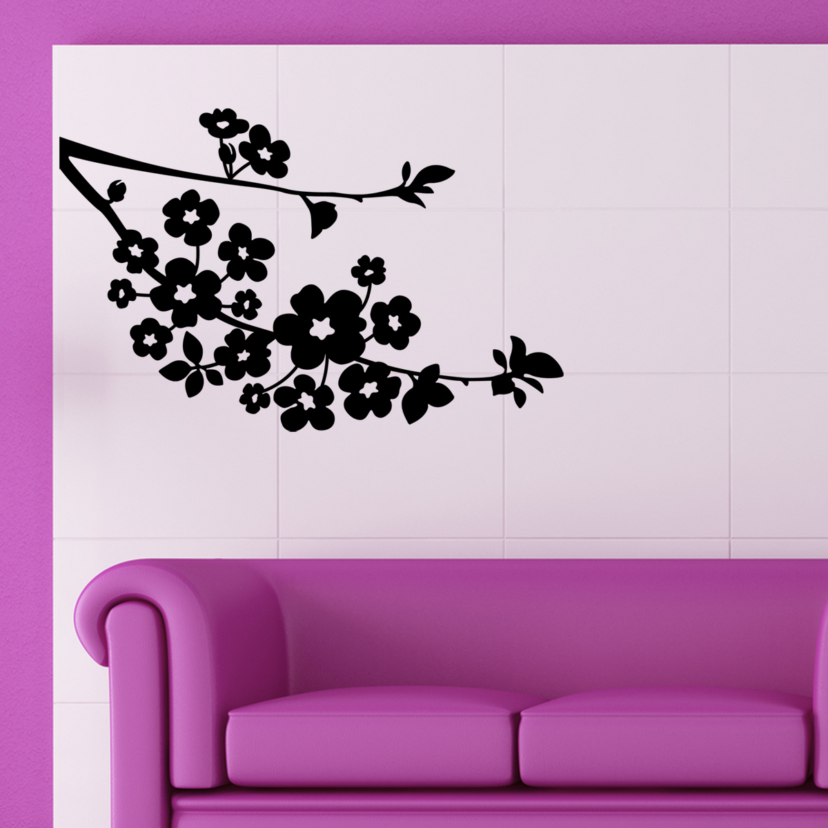 stickers muraux fleurs sticker fleurs de cerisier ambiance. Black Bedroom Furniture Sets. Home Design Ideas