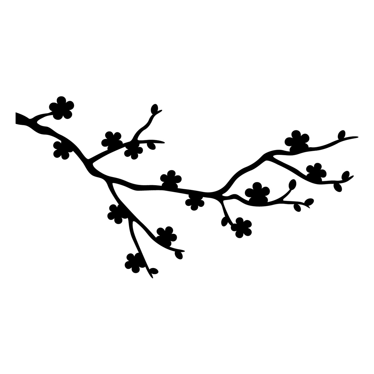 Blossom Wall Stickers Stickers Ordinateurs Portables Sticker Fleurs De