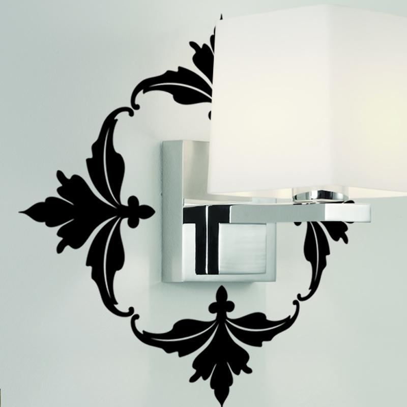 stickers muraux design sticker mural fleurs en cadre. Black Bedroom Furniture Sets. Home Design Ideas