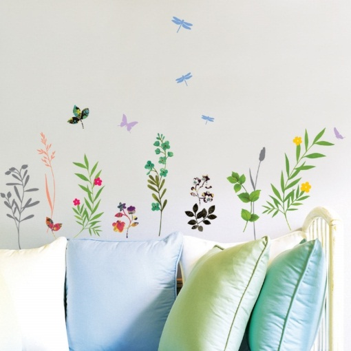 stickers fleur et herbes hautes stickers muraux nature. Black Bedroom Furniture Sets. Home Design Ideas