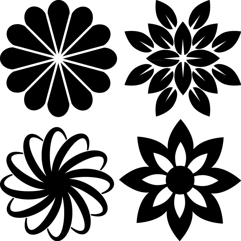 stickers muraux fleurs sticker fleurs ornementales ambiance. Black Bedroom Furniture Sets. Home Design Ideas