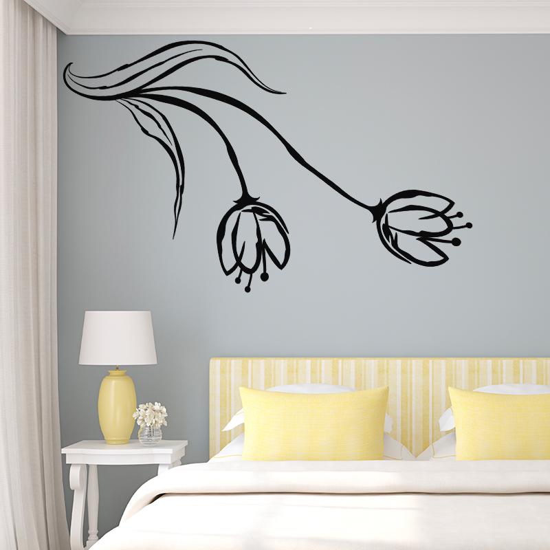 sticker fleurs sous le vent stickers nature fleurs ambiance sticker. Black Bedroom Furniture Sets. Home Design Ideas