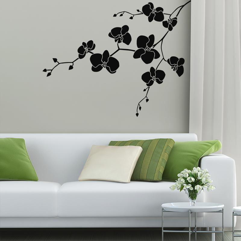 sticker fleurs sur branche stickers nature fleurs ambiance sticker. Black Bedroom Furniture Sets. Home Design Ideas
