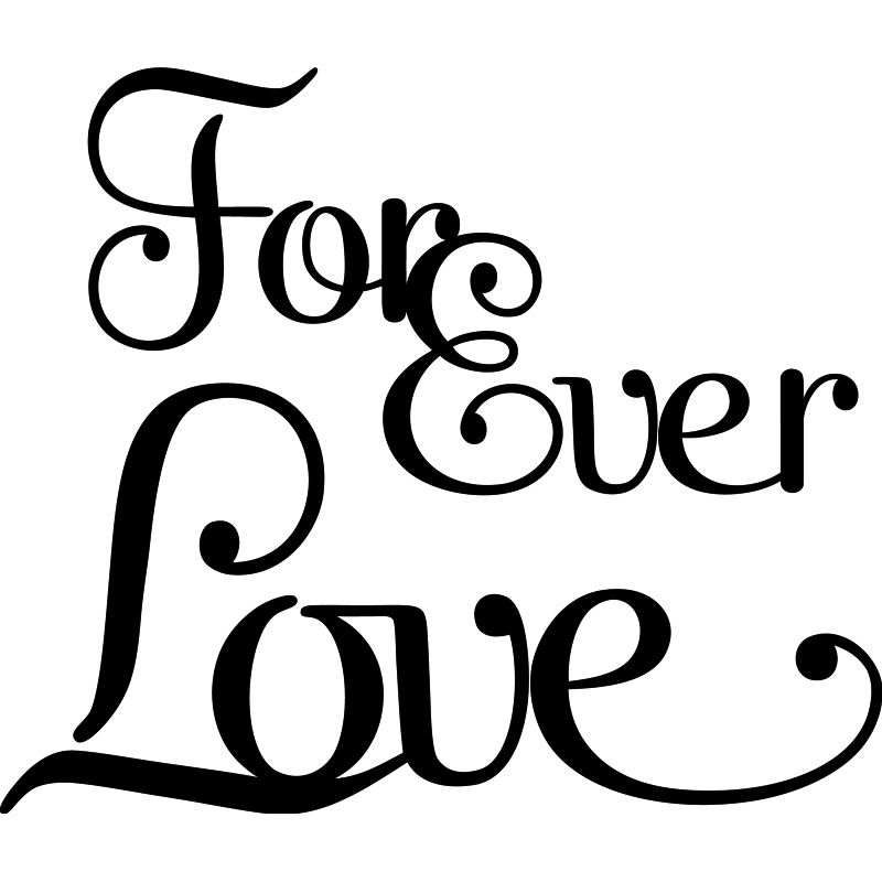 Stickers muraux pour chambre sticker mural forever love for Stickers chambre love