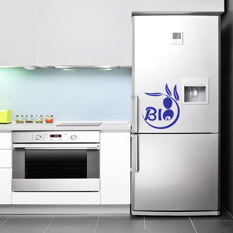 Sticker frigo bio design stickers cuisine ambiance sticker for Decoration porte frigo