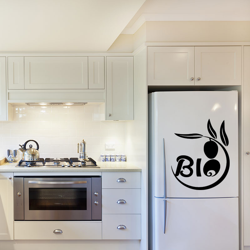sticker frigo bio design stickers cuisine ambiance sticker. Black Bedroom Furniture Sets. Home Design Ideas