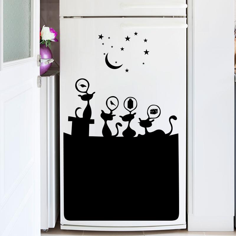 sticker frigo chats gourmants stickers cuisine. Black Bedroom Furniture Sets. Home Design Ideas