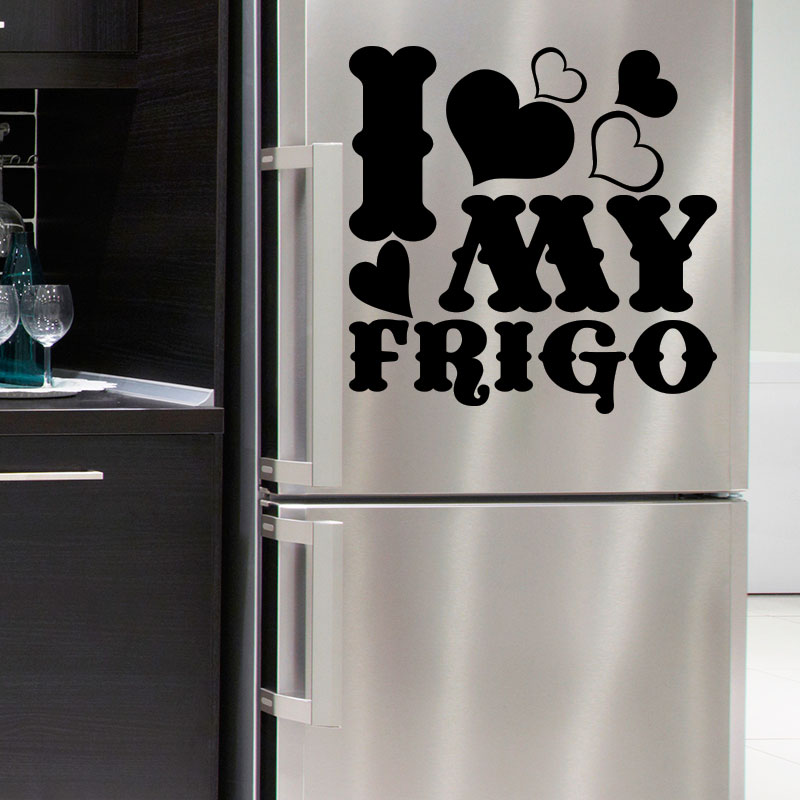 sticker frigo citation i love my frigo stickers cuisine ambiance sticker. Black Bedroom Furniture Sets. Home Design Ideas