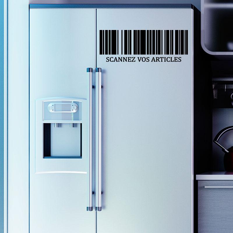 Sticker frigo citation scannez vos articles stickers - Stickers frigo 2 portes ...