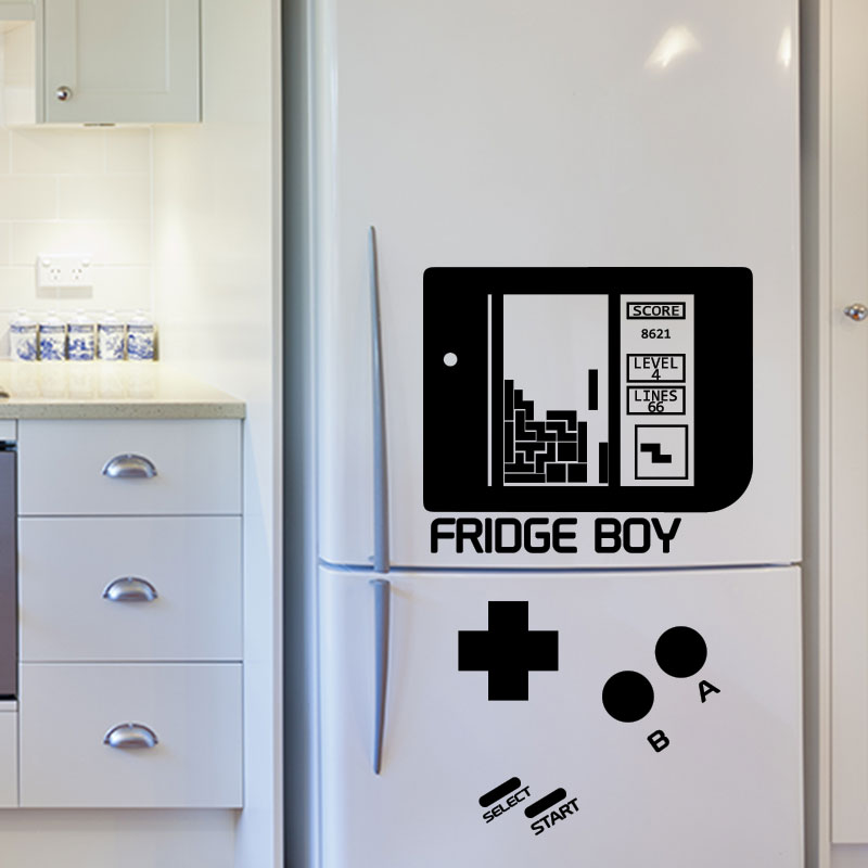 sticker frigo jeux vid os fridge boy stickers citations ambiance sticker. Black Bedroom Furniture Sets. Home Design Ideas