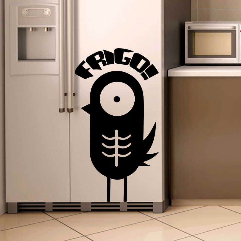 sticker frigo l 39 oiseau gourmand frigo stickers cuisine ambiance sticker. Black Bedroom Furniture Sets. Home Design Ideas