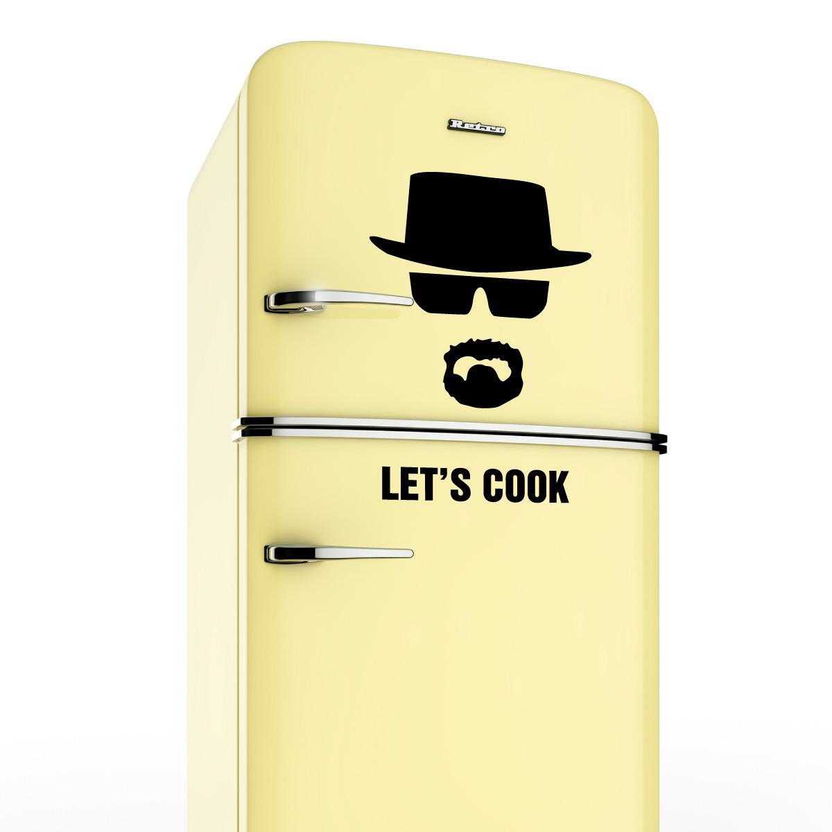 Sticker frigo let 39 s cook breaking bad stickers musique - Stickers frigo 2 portes ...