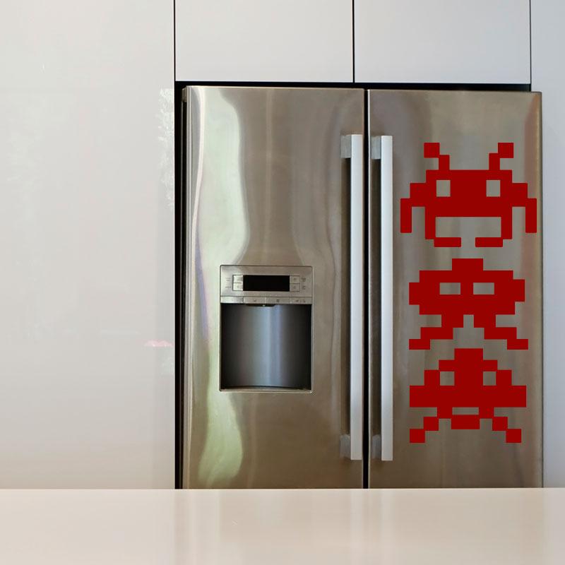 sticker frigo lot de petits robots stickers cuisine. Black Bedroom Furniture Sets. Home Design Ideas