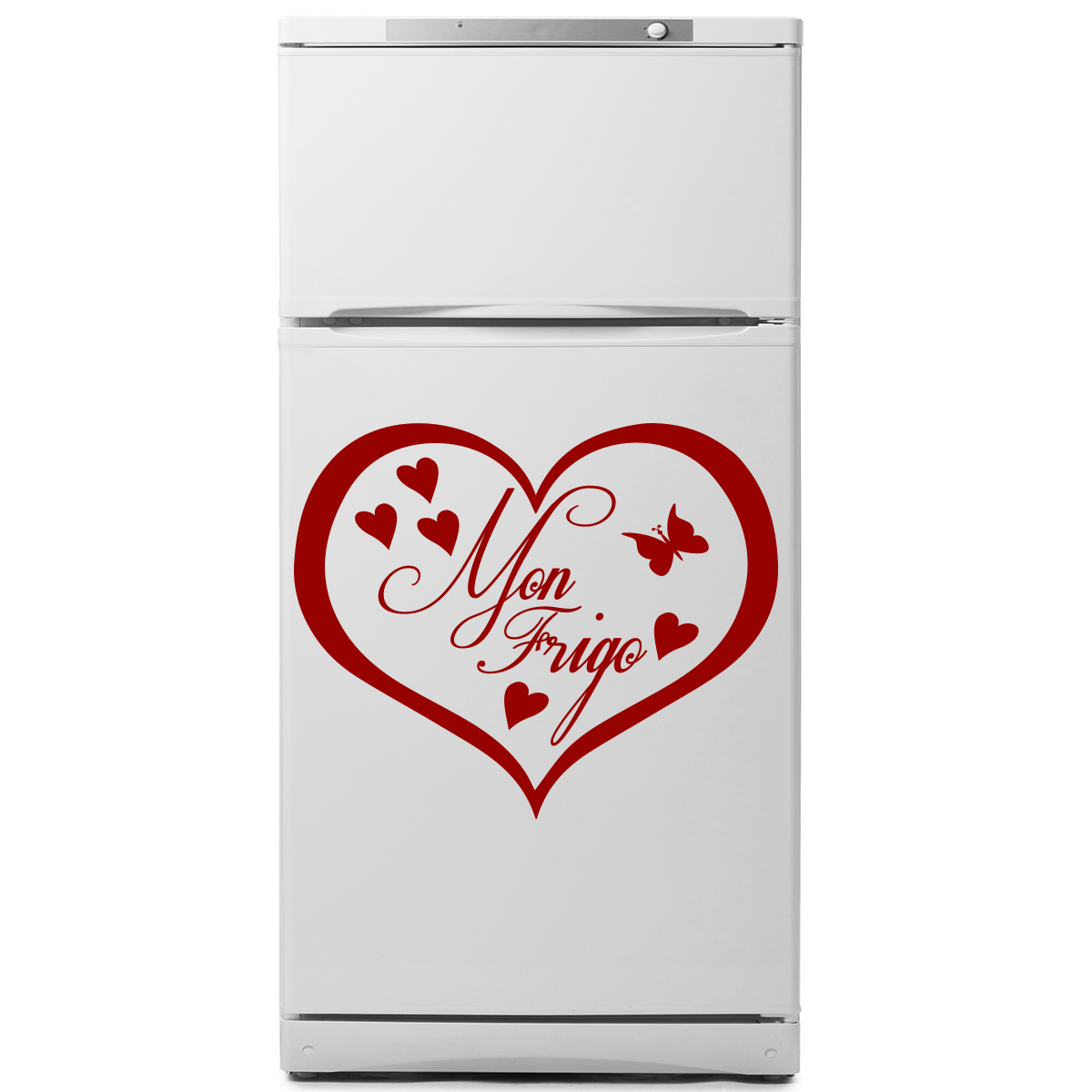 sticker frigo mon frigo coeur stickers citations ambiance sticker. Black Bedroom Furniture Sets. Home Design Ideas
