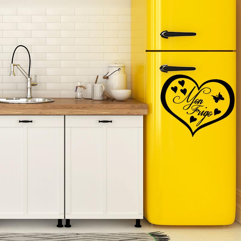 Sticker frigo mon frigo coeur stickers citations - Stickers frigo 2 portes ...