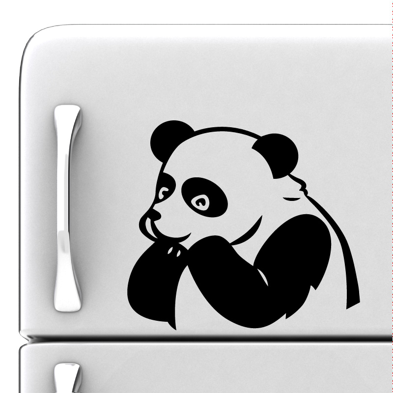 sticker frigo panda amusant stickers animaux ambiance sticker. Black Bedroom Furniture Sets. Home Design Ideas