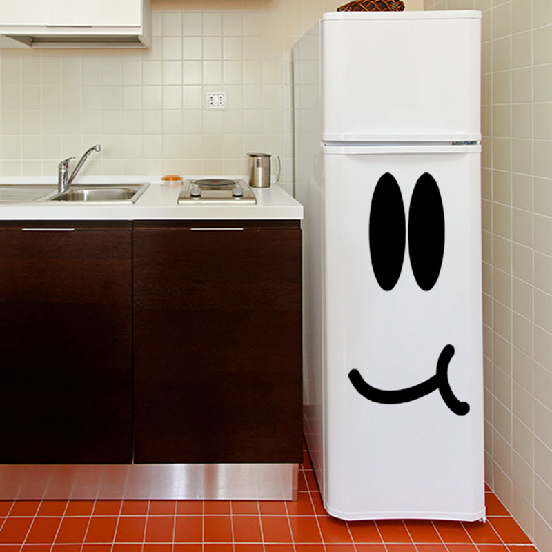 sticker frigo smiley gourmand stickers cuisine ambiance sticker. Black Bedroom Furniture Sets. Home Design Ideas