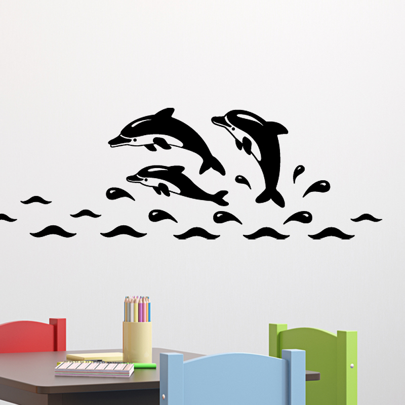 Stickers pour les bébés - Sticker Dauphins drôles | Ambiance ...